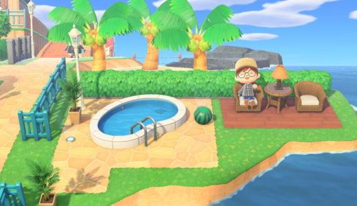 『あつ森』8:洋風区にメインストリートと噴水広場を作る